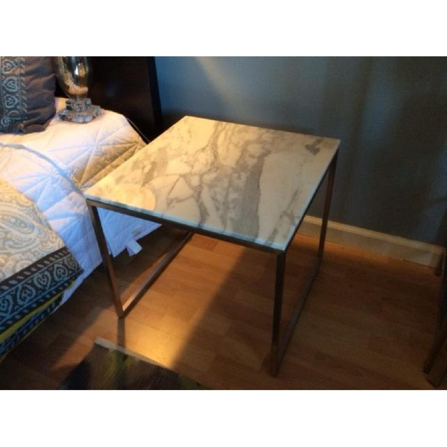 Design Within Reach Rubik Marble Side Tables - Pair - image-3