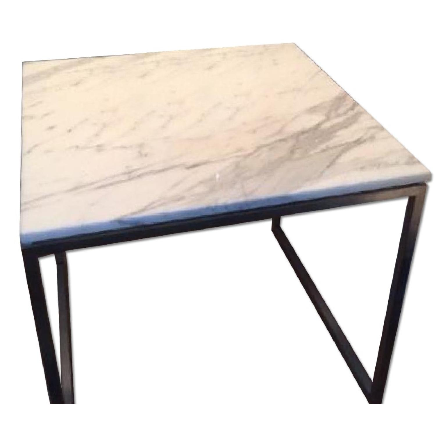 Design Within Reach Rubik Marble Side Tables - Pair - image-0