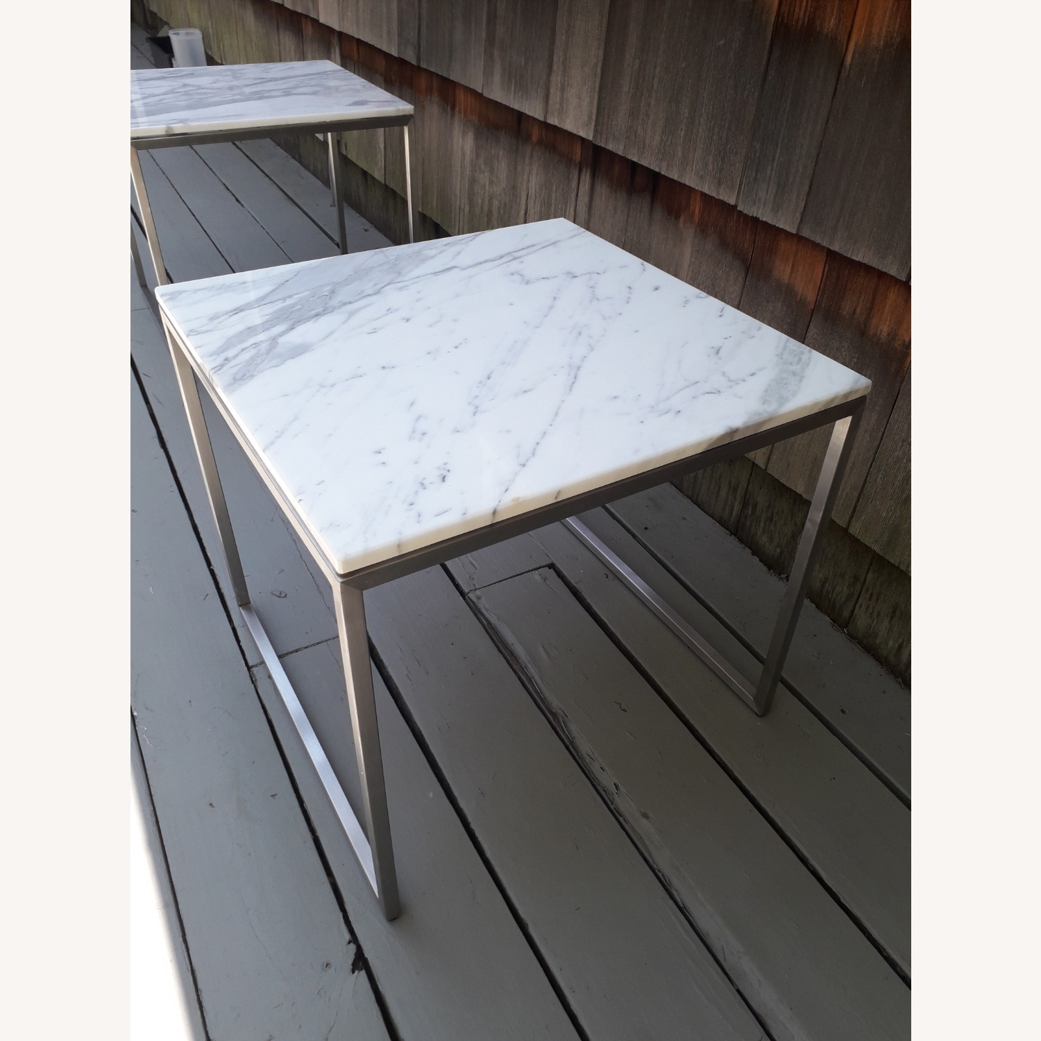 Design Within Reach Rubik Marble Side Tables - Pair - image-7