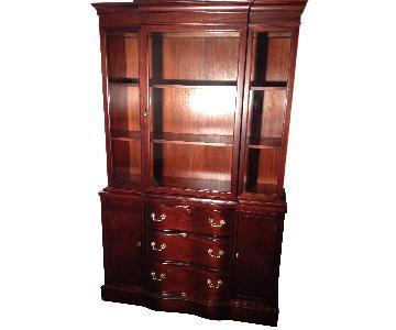 Bassett Antique Mahogany China Cabinet