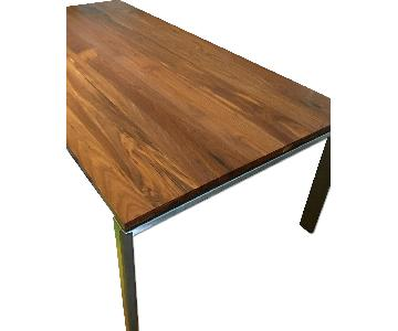 Room & Board Rand Walnut & Stainless Steel Dining Table