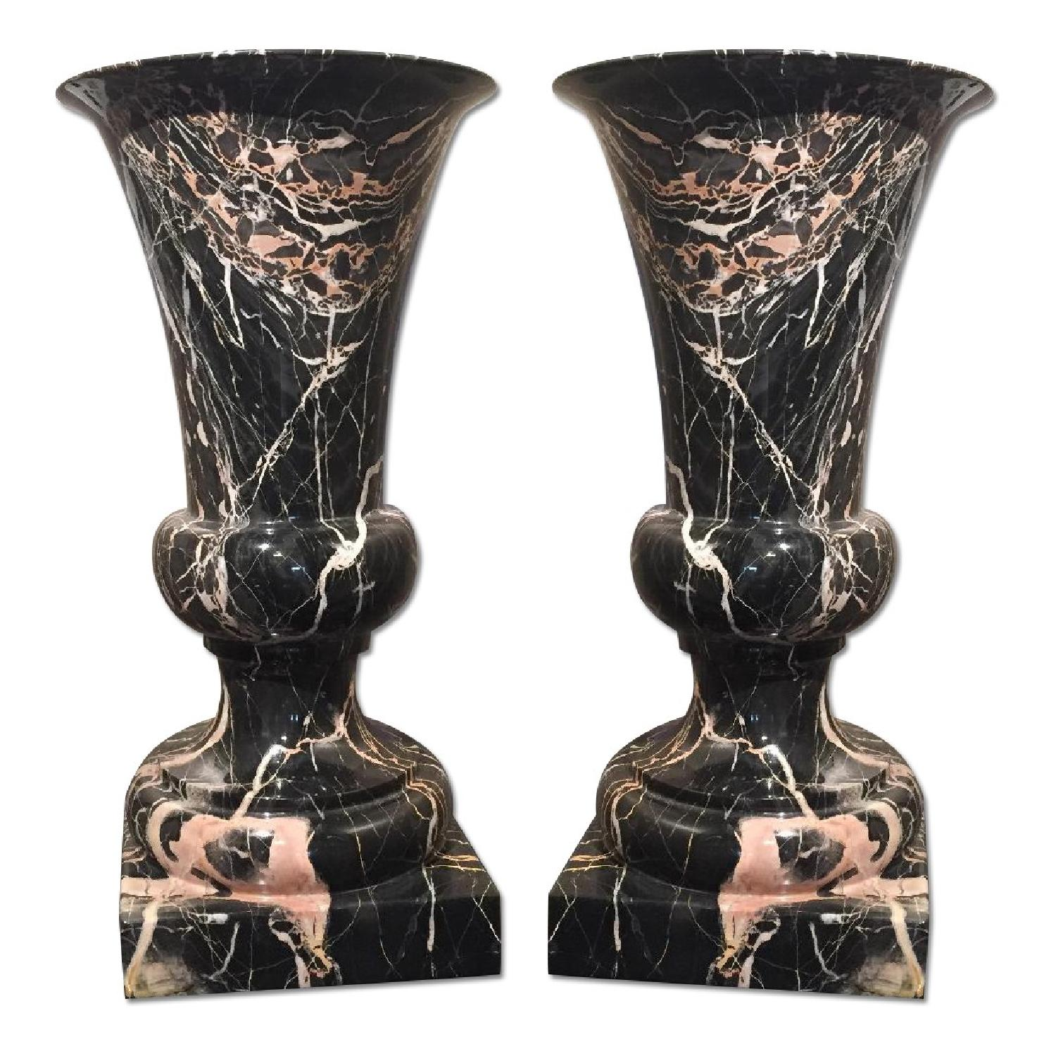 Marble Urns - Pair