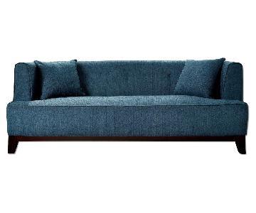 Furniture of America Sofia Teal Sofa