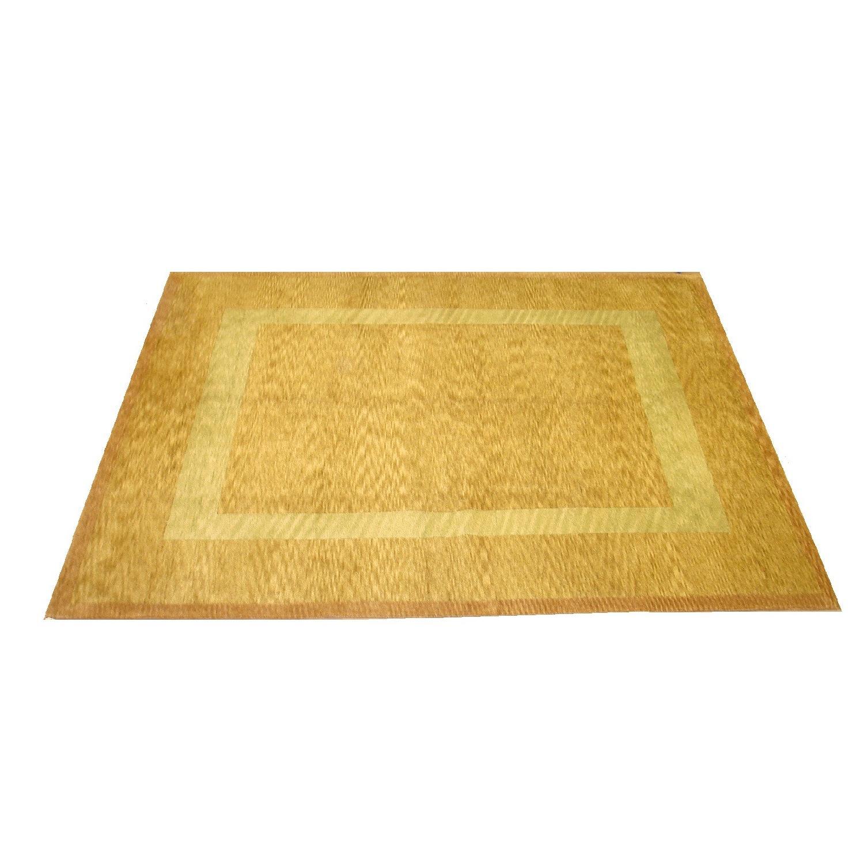 Leon Banilivi Rugs Hand Woven Gold Gabeh Carpet