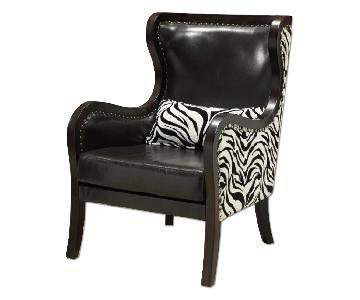 Coaster Fine Furniture Chair w/ Nailhead & Zebra Print Accen