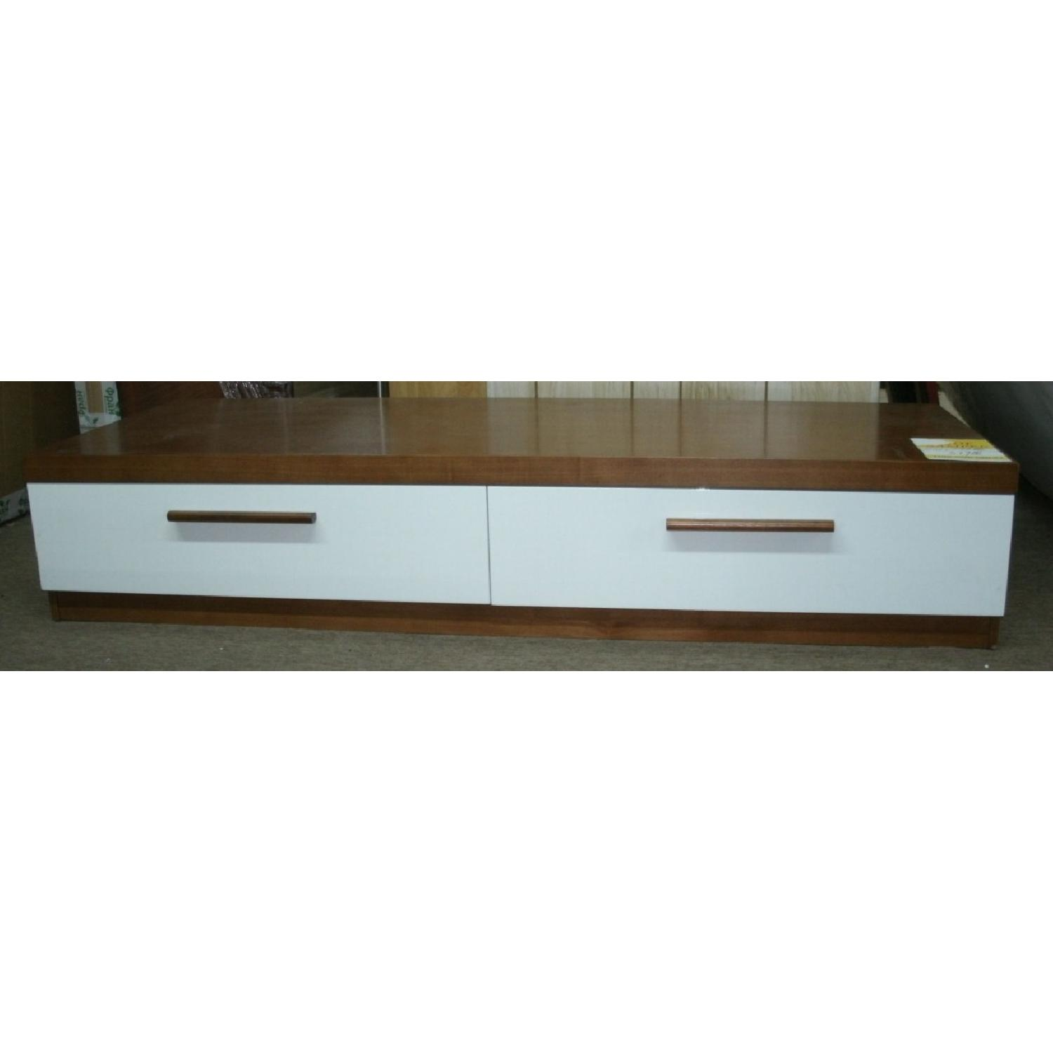 Modern Low Profile Walnut White Tv Stand Aptdeco