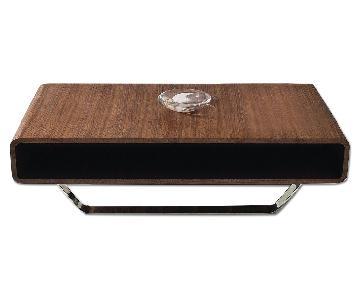 The Smart Sofa Walnut Wood Coffee Table
