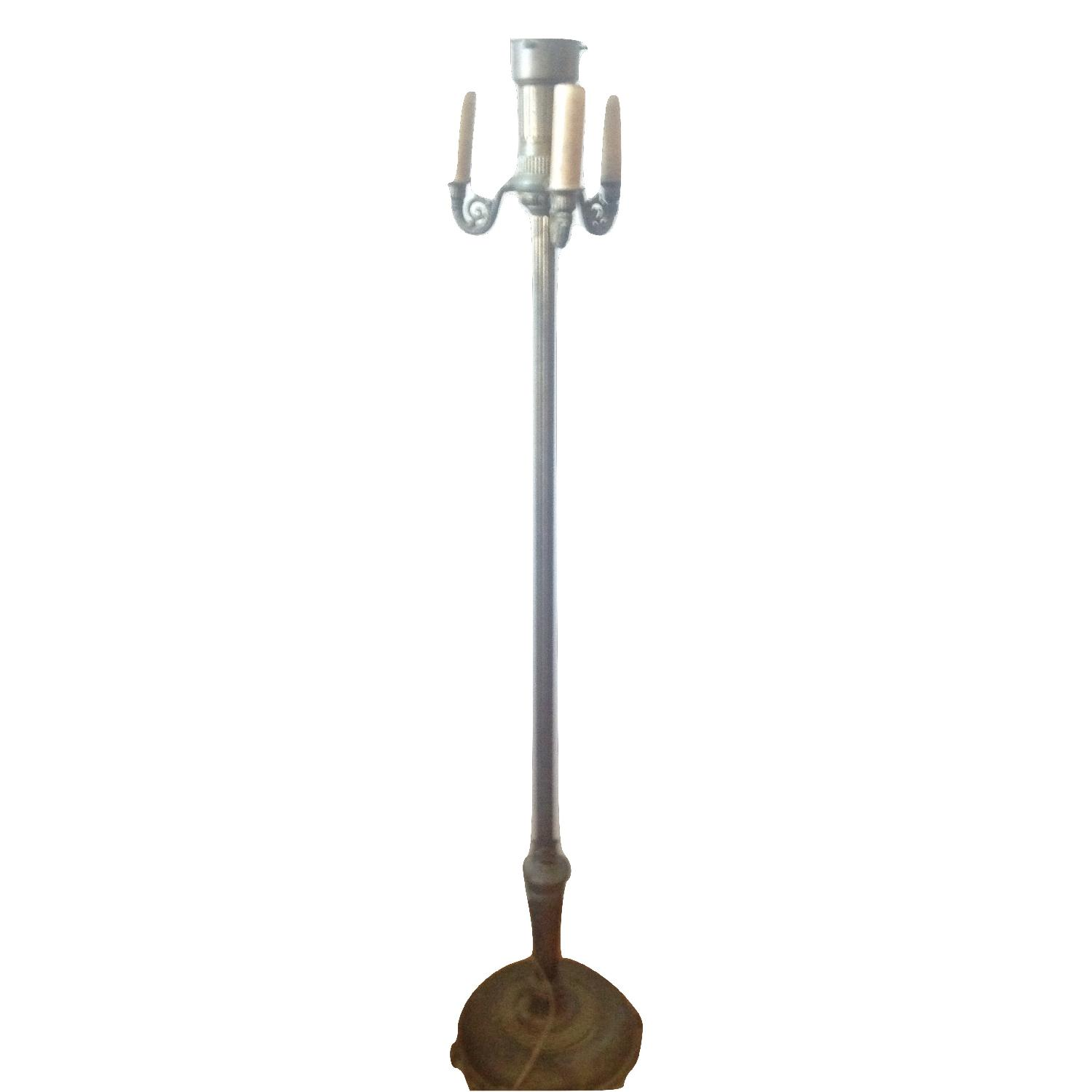 Antique candelabra floor lamp metal and wood something