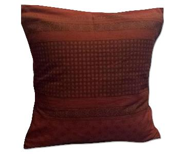 Saffron Marigold Indian Style Orange Pillow Cover