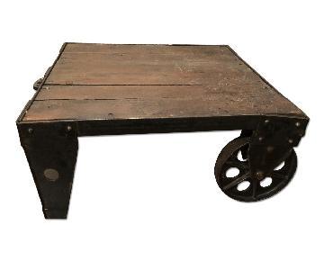 Vintage Wheel Coffee Table