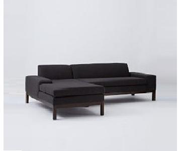 West Elm Lorimer Sectional Sofa w/ Chaise