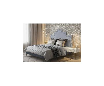 TOV Furniture Serenity Grey Velvet Full Bed