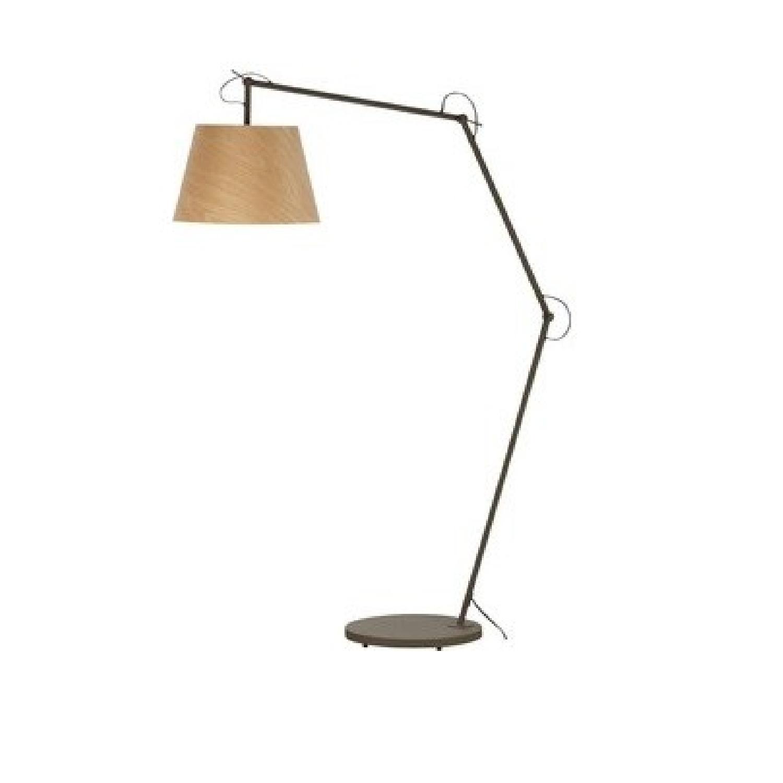 CB2 Polygon Floor Lamp w/ Subtle Wood Grain Pattern