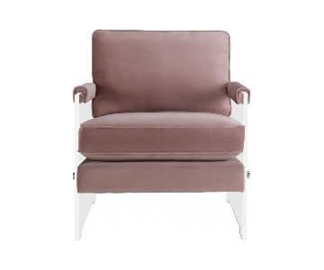 TOV Furniture Serena Blush Velvet/Lucite Chair