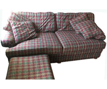 Smith Brothers Handmade Sofa & Ottoman