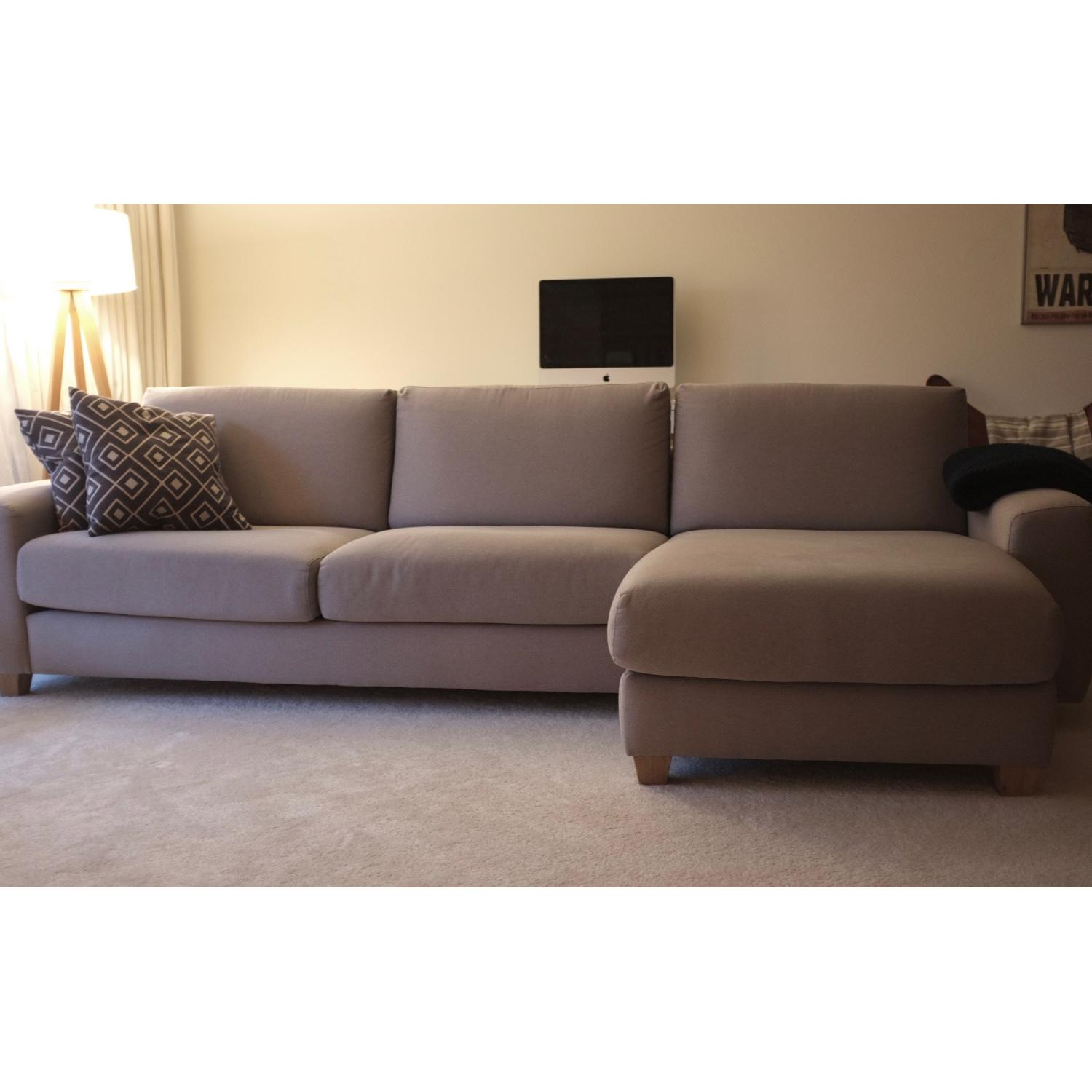 Sits Ida Light Grey Sectional Sofa W Chaise Lounge Aptdeco ~ Sectional Sofa Chaise Lounge