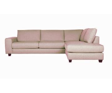 Sits Ida Light Grey Sectional Sofa w/ Chaise Lounge