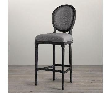 Restoration Hardware Counter Height Crypton Fabric Stool