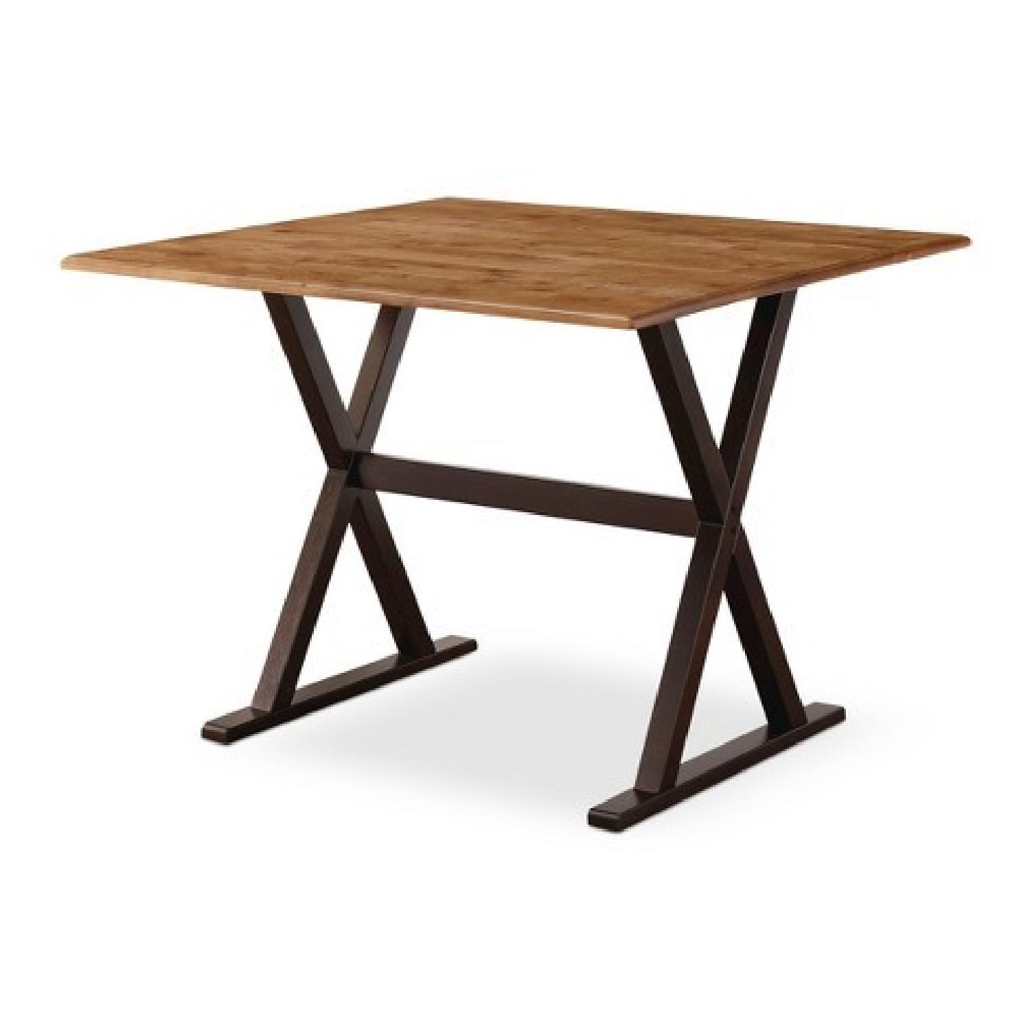 target threshold square drop leaf rustic dining table - Square Wood Dining Table