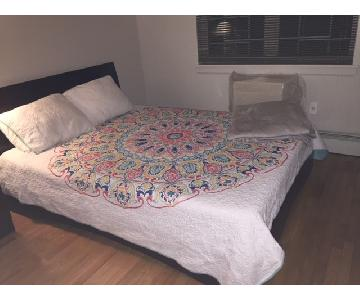 Homelegance Furniture Cherry-Finish Queen Platform Bed