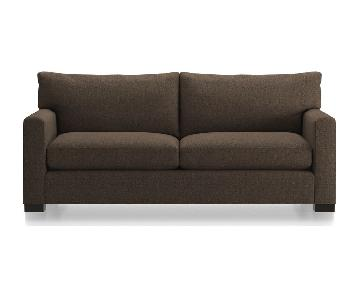 Crate & Barrel Axis II 2-Seater Brown Sofa