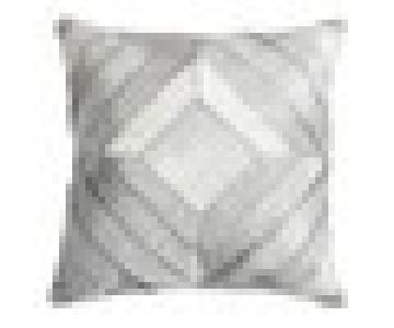 Madisons Inc Grey Hide Patchwork Pillow
