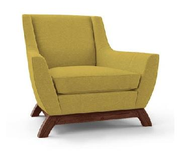Thrive Furniture Mid Century Modern Chair in Lime Green