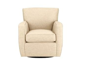 Crate & Barrel Mircosuede Swivel Chair