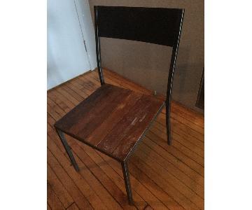 Metal & Wood Dining Chair
