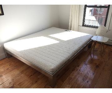 European Custom Stainless Steel Bed Frame