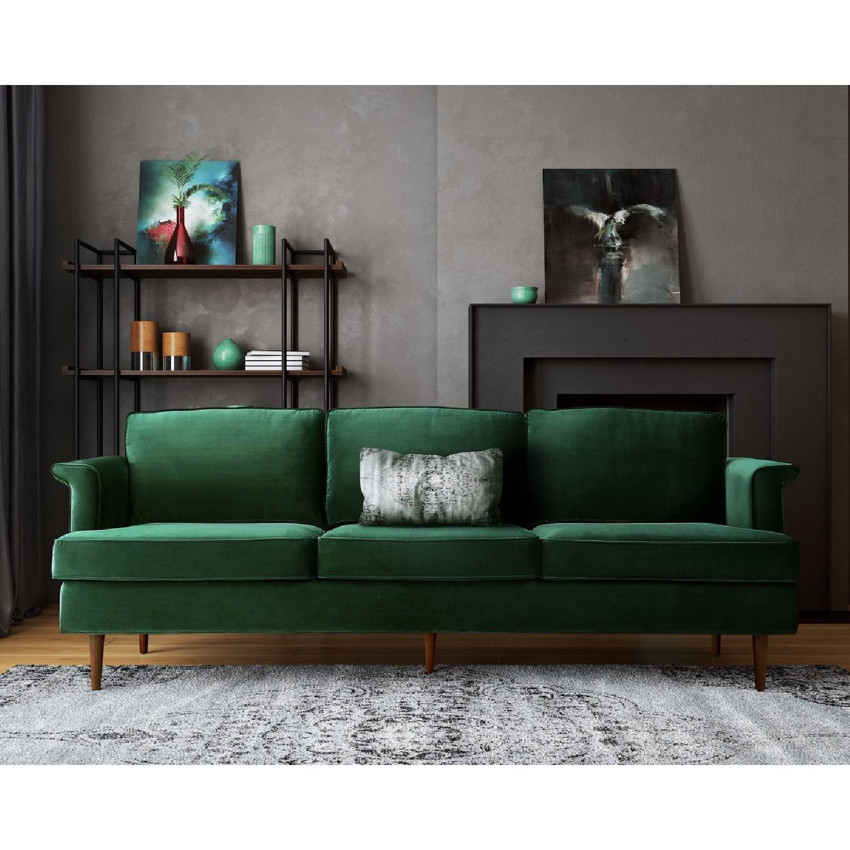 TOV Furniture Porter Forest Green Sofa