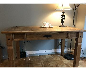 Vintage Natural Wood Desk