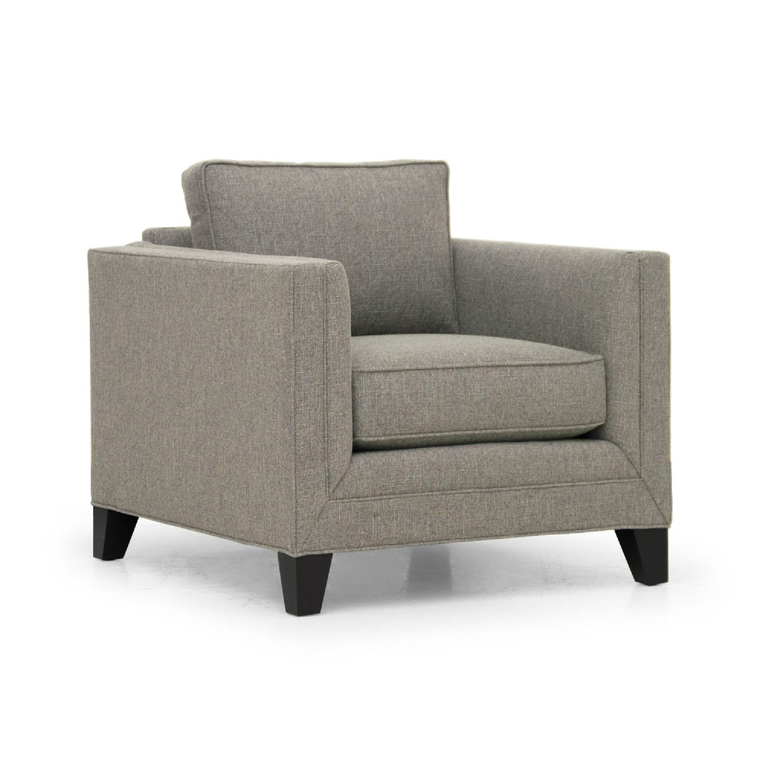 Mitchell Gold Arm Chair in Taupe Microsuede