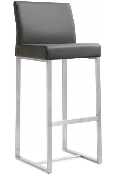 TOV Furniture Denmark Grey Steel Barstools