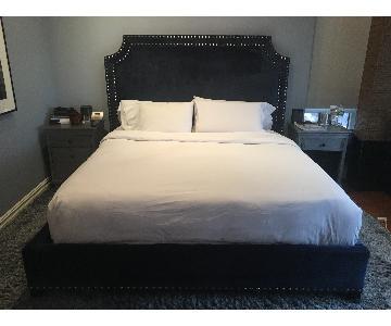 Upholstered Platform King Bed