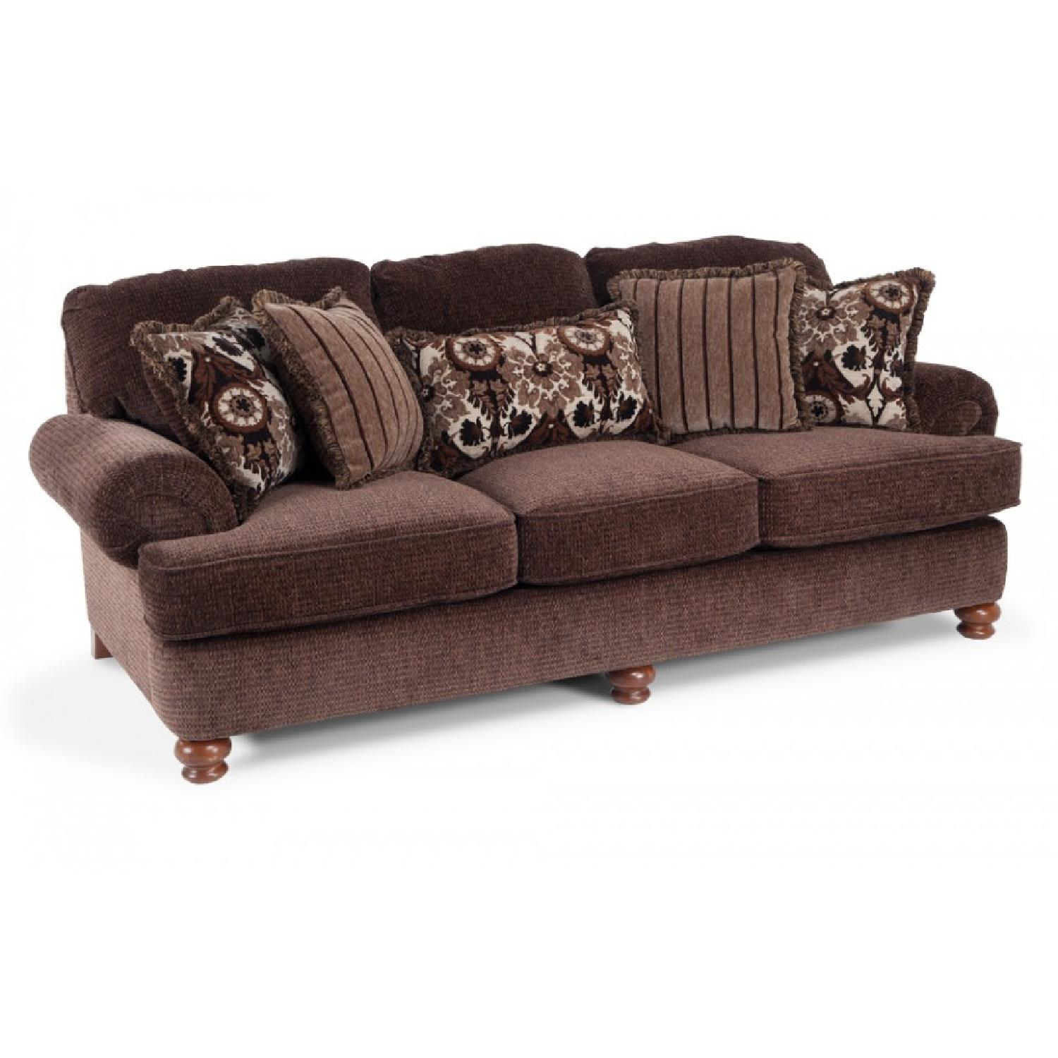 Bobs Leather 2 Seater Recliner w Console AptDeco