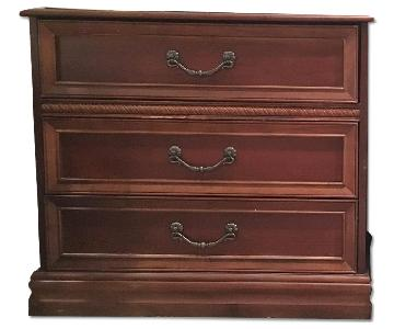 Dark Wood 3 Drawer Dresser
