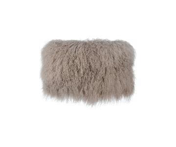 TOV Furniture Tibetan Sheep Sandy Brown Large Pillow