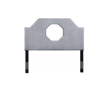 TOV Furniture Noctis King Headboard in Grey Velvet