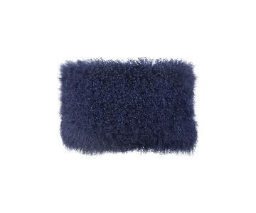 TOV Furniture Tibetan Sheep Long Blue Pillow