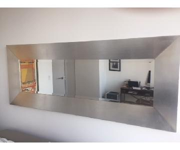 European Silver Gilded Framed Mirror