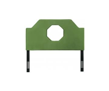 TOV Furniture Noctis King Headboard in Green Velvet