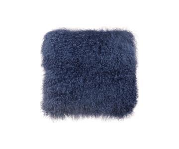 TOV Furniture Tibetan Sheep Large Blue Pillow