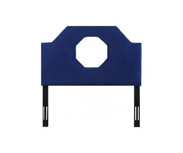 TOV Furniture Noctis Full Headboard in Navy Velvet
