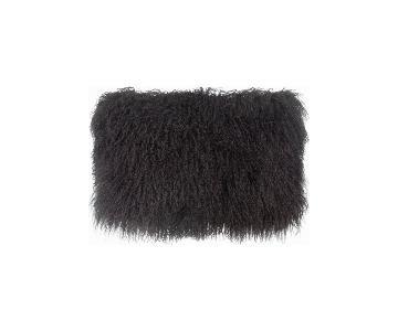 TOV Furniture Tibetan Sheep Dark Grey Long Pillow