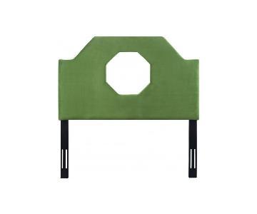 TOV Furniture Noctis Full Headboard in Green Velvet