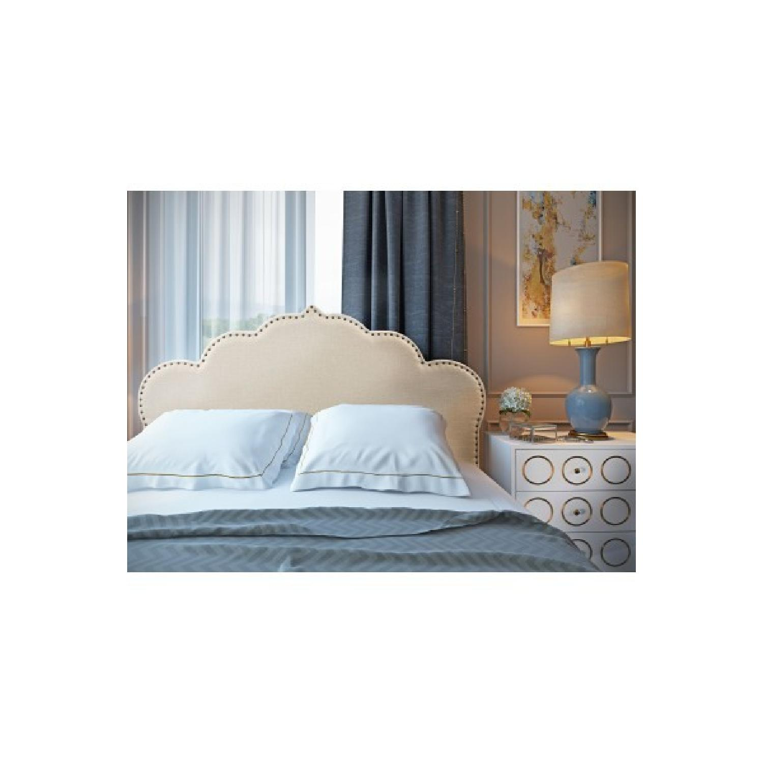 TOV Furniture Noches Twin Headbaord in Beige Linen