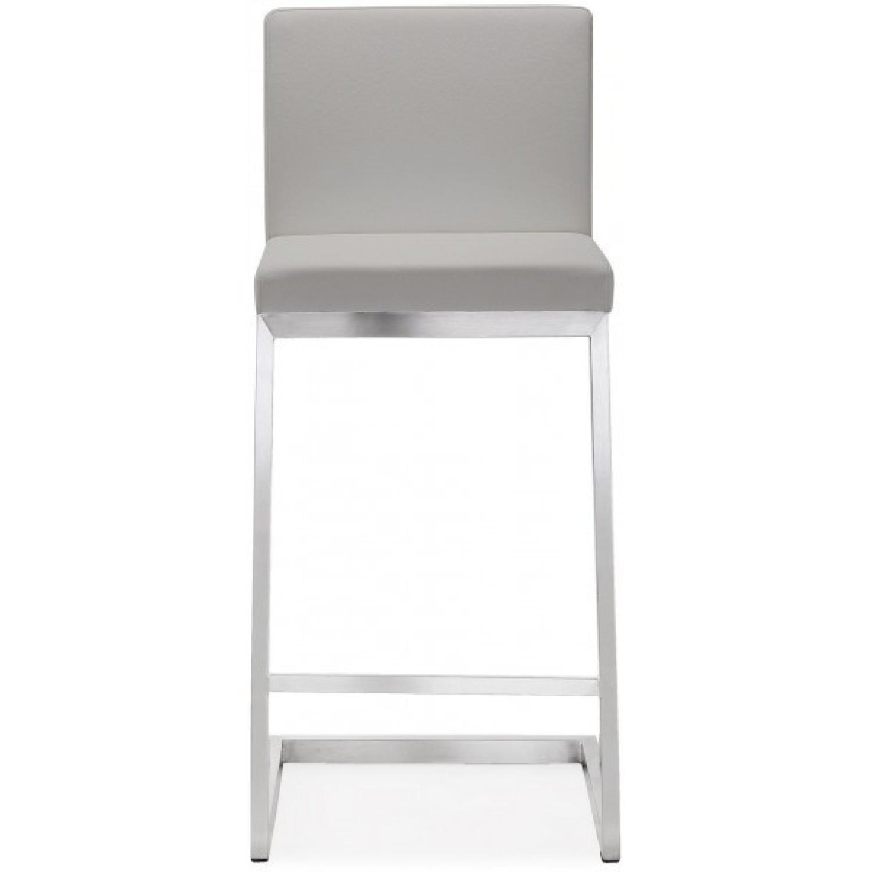 ... TOV Furniture Parma Light Grey Steel Set Of 2 Counter Stools 1