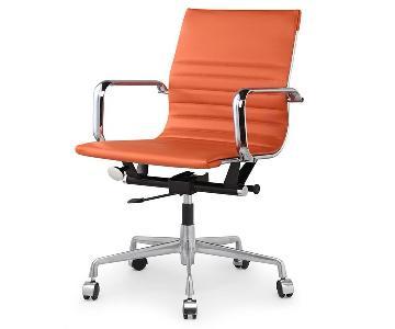 Meelano Office Chair In Vegan Leather - Orange