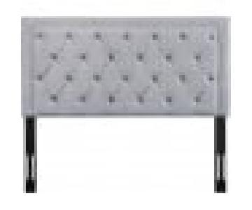 TOV Furniture Nacht Full Headboard in Grey Velvet